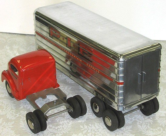 18: 1950s Smith Miller P.I.E. Semi Truck wTrailer PIE - 4