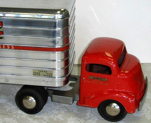 18: 1950s Smith Miller P.I.E. Semi Truck wTrailer PIE - 5