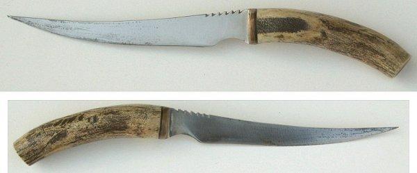 33: Custom Made Knife w Stag Handle~ Gary's Montana