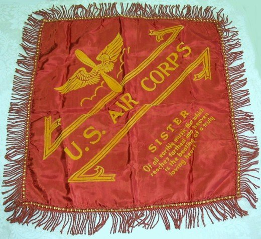 40: Old U.S Air Corps Sweetheart Pillow Cover-Sister