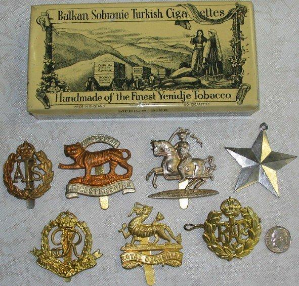 46: Lot WWII British Metal Military Badges Insignia