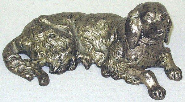 146: Antique Cast Iron Golden Retriever Dog Statue