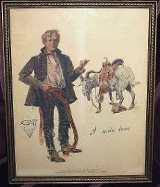 246: Old Charlie Russel BPOE Montana Print~Goat Rider?