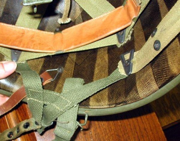 361: WWII US Army Officer/LT Helmet~Paratrooper~Nice - 5