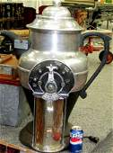 295: 1930s Coffee Pot Shaped Commercial Coffee Grinder
