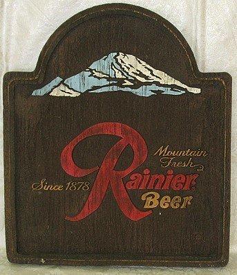 802: Vintage Rainier Beer Wall Sign/Plaque