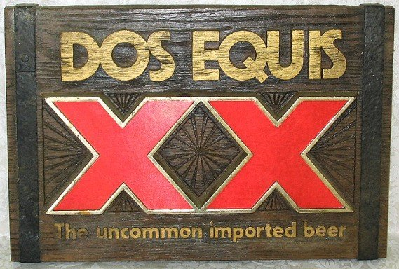 803: Vintage Dos Equis XX Imported Beer Sign/Plaque