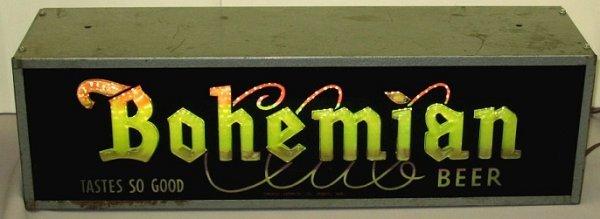 806: Old Bohemian Beer Color Motion Bar Sign Spokane WA