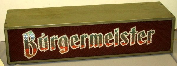 810: Vintage Burgermeister Color Motion Beer Sign