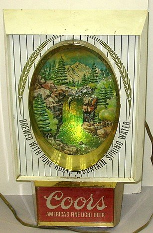 811: Vintage Coors Waterfall Motion Beer Sign
