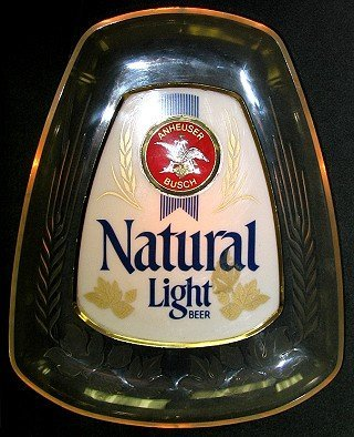 812: Anheuser Busch Natural Light Light-up Beer Sign