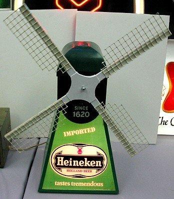 821: Vintage Heineken Windmill Motion Beer Sign