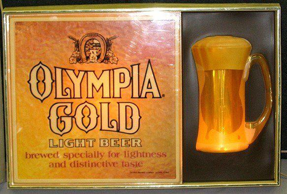 Sign olympia beer Vintage 60s