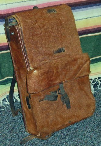 1057: WWII Swiss Army Military Horse Hide Back Pack