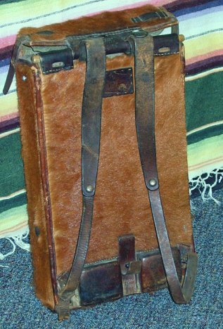 1057: WWII Swiss Army Military Horse Hide Back Pack - 2