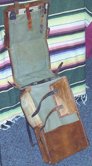 1057: WWII Swiss Army Military Horse Hide Back Pack - 5