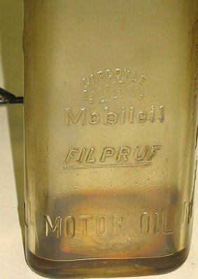 1124: 8 Rare Mobiloil Gargoyle Filpruf Oil Bottles AND - 5