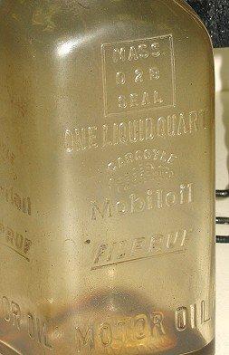 1124: 8 Rare Mobiloil Gargoyle Filpruf Oil Bottles AND - 6