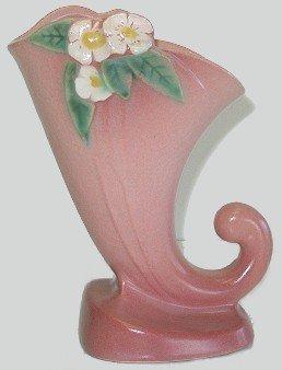 405: Roseville Pottery Mock Orange Cornucopia Vase