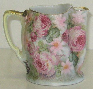 """414: 3 3/8"""" tall Royal Bayreuth Rose Tapestry Pitcher"""