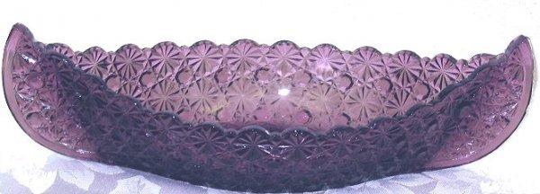 6: Daisy & Button Purple/Amethyst Boat Shaped Dish