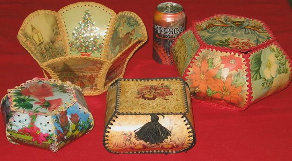 11: Grandma Craft~Crocheted Greeting Cards~Folk Art