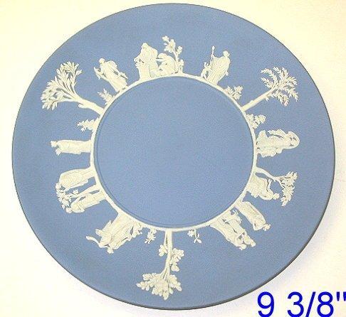 "19: Wedgwood Blue Jasperware 9 3/8"" Plate"
