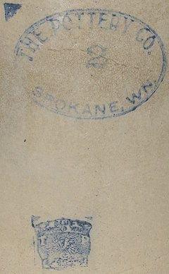 482: Old 2 gallon Spokane WN Pottery Crock~Washington - 2