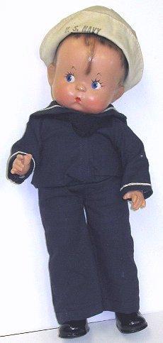 3: Vint Composition Effanbee SKIPPY Sailor Boy Doll