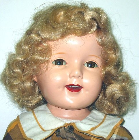 """7: 27"""" Ideal 1930s Composition Shirley Temple Doll"""