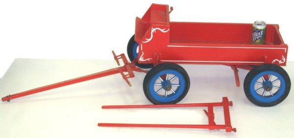 11: Vintage Hand Crafted Buckboard Wagon-Dog Size