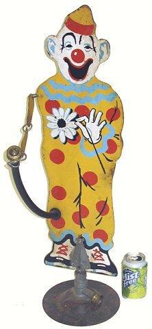 13: Rare 1930s Sprinkling Sam Clown Lawn Sprinkler