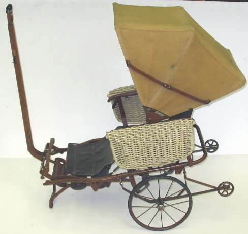 14: Unusual Victorian Baby Stroller/Buggy Folds Up!