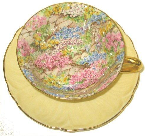 24: Vintage Shelley Cup & Saucer=Yellow Rock Garden