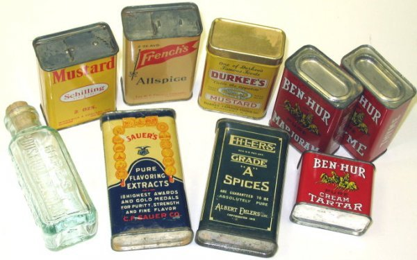 200: Lot of Old Spice Tins Ben-Hur/Ehlers/Sauers/More - 2