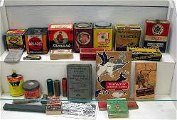 747: Large Lot Vint Ammo Advertising Boxes Winchester