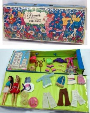 24: 2 Vintage Dawn Doll's W/ Clothing & Case
