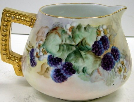 50: Hand Painted Bavarian Porcelain Lemonade Pitcher