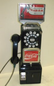 1013: Vintage Wall Mount Pay Phone/Telephone Restored