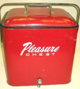 1016: Vintage Red Pleasure Ice Chest/Cooler