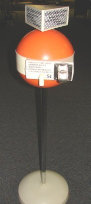 1017: Stylish 60's Bowling Alley 5¢ Lotion Dispenser