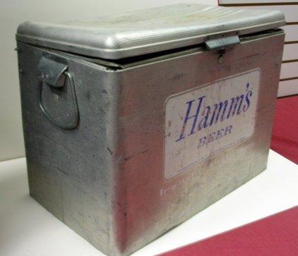 1019: Vintage Aluminum Hamm's Beer Cooler