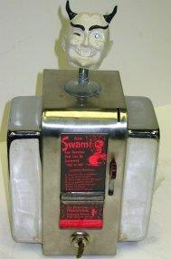 1046: Vintage Swami Fortune Coin Op Diner Napkin Holder