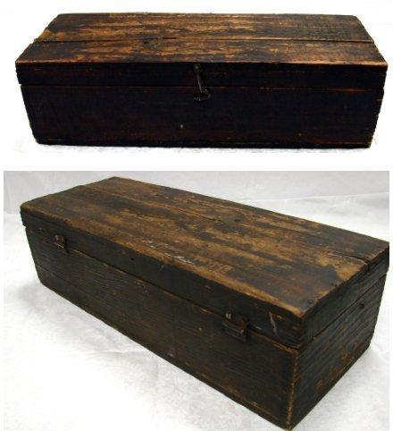 1157: Antique Cobbler Set in Box W/Shoe Lasts & More - 2