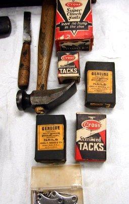 1157: Antique Cobbler Set in Box W/Shoe Lasts & More - 3