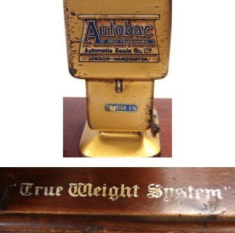 1217: Antique Autobac True Weight System Balance Scale - 3