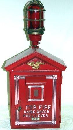 1435: Vintage Fire Alarm Box W/Light & Telegraph LAFD