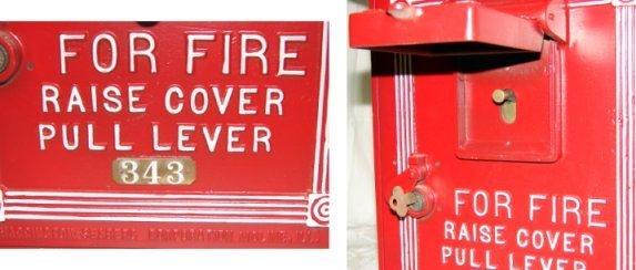 1435: Vintage Fire Alarm Box W/Light & Telegraph LAFD - 4
