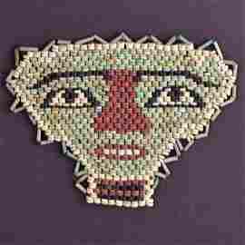 An Egyptian Beadwork Mummy Mask, Ptolemaic Period