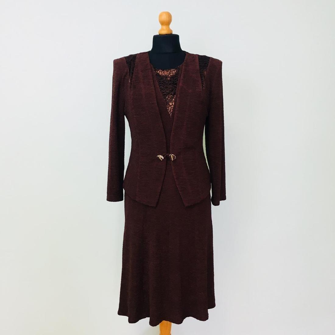 Vintage Women's 2 Piece Evening Jacket Dress Size M